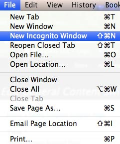 Chrome Incognito Window Start